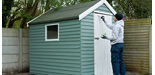 How to Paint a Wooden Shed