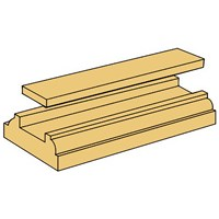 Picton Staircraft Pine Stair Base Rail - 8ft