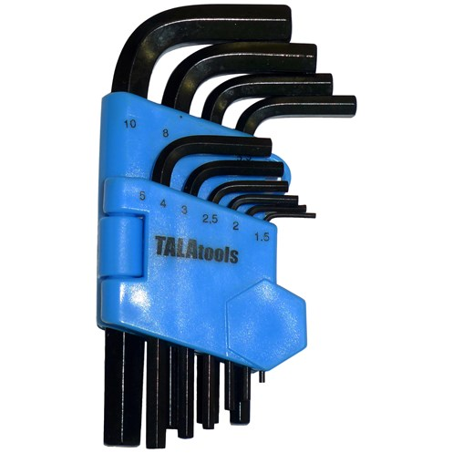Tala  Metric Hex Key Set - 10 Piece